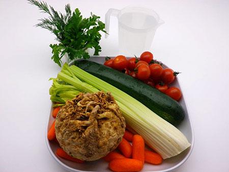 Ингредиенты для сельдереевого супа