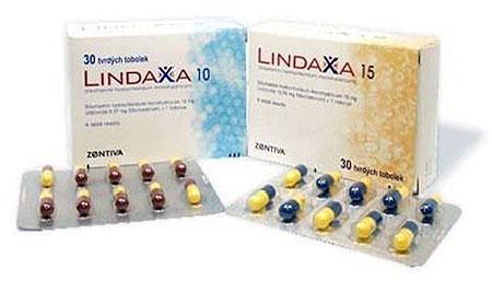 таблетки «Линдакса» 10 и 15 мг